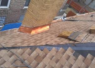 Copper Chimney Flashing