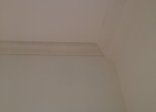 Finish carpentry crown molding